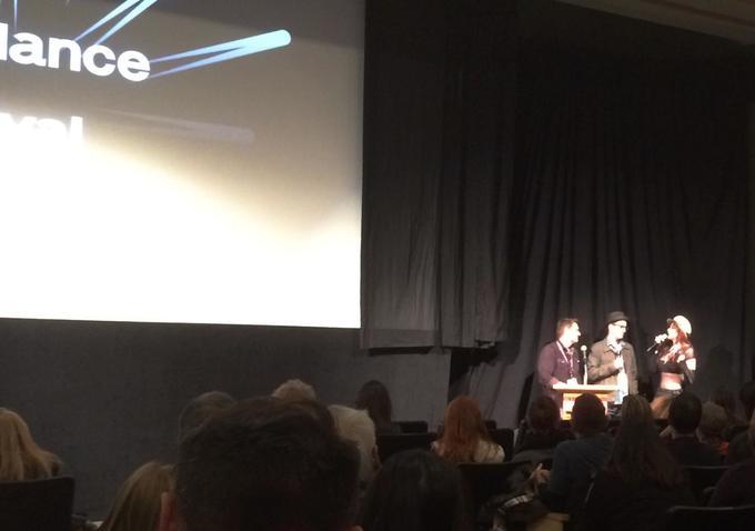 Jeff Feuerzeig and Laura Albert at Sundance